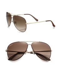 Ferragamo | Brown Classic Aviator 60mm Sunglasses for Men | Lyst