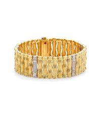 Roberto Coin | Metallic Bonsai Diamond, 18k Yellow Gold & 18k White Gold Bracelet | Lyst