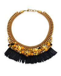 Lizzie Fortunato | Metallic Tortola Beaded Hula Fringe Necklace | Lyst