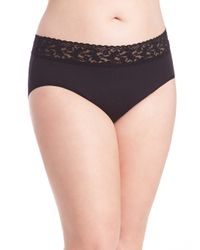 Hanky Panky | Black Plus Size Cotton French Brief | Lyst