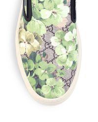 Gucci - Multicolor Dublin Bloom Slip-on Sneakers for Men - Lyst
