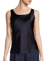 Lafayette 148 New York | Black Luxe Silk Charmeuse Reversible Bias Tank Top | Lyst