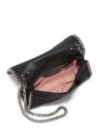 Stella McCartney - Black Falabella Beaded Embroidered Crossbody Bag - Lyst