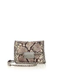 MICHAEL Michael Kors | Natural Carine Medium Quilted Snake-embossed Leather Shoulder Bag | Lyst