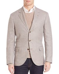 Brunello Cucinelli | Gray Micro Houndstooth Blazer for Men | Lyst