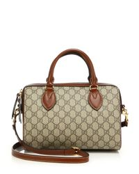 Gucci | Natural Gg Supreme Top Handle Bag | Lyst
