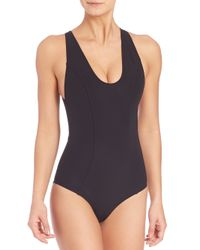 Lisa Marie Fernandez | Black One-piece Garance Bonded Swimsuit | Lyst