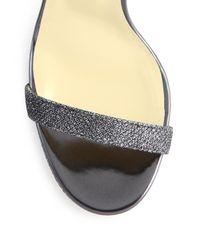 Jimmy Choo - Metallic Claudet 100 Lame Sandals - Lyst