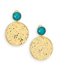 Nest | Green Turquoise Medallion Drop Earrings | Lyst