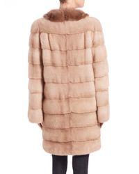 Saks Fifth Avenue - Natural Mink & Sable Fur Coat - Lyst