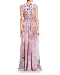 KENZO - Pink Sand Silk Maxi Dress - Lyst