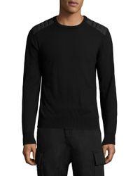 Belstaff | Black Virgin Wool Sweater for Men | Lyst