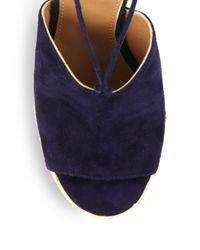 Aquazzura - Orange Palm Springs Wedge Sandals - Lyst