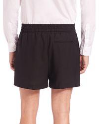 Acne Studios - Black Ryder Wool Dress Shorts for Men - Lyst