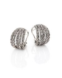 John Hardy | Metallic Classic Chain Small Sterling Silver Hoop Earrings/0.75 | Lyst