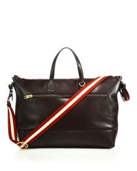 Bally | Brown Novo Leather Weekender Bag for Men | Lyst