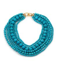 Kenneth Jay Lane | Blue Seven Row Turquoise Necklace | Lyst