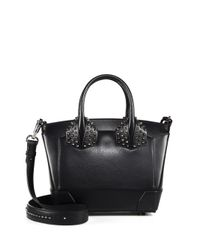 Christian Louboutin | Black Eloise Small Studded Leather Tote | Lyst