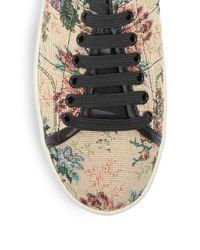 Saint Laurent - Multicolor Court Classic Tapestry Double-sole Sneakers - Lyst