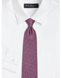 Ferragamo | Purple Gancini Silk Tie for Men | Lyst
