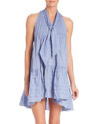 Lisa Marie Fernandez | Blue Tiered Babydoll Dress | Lyst