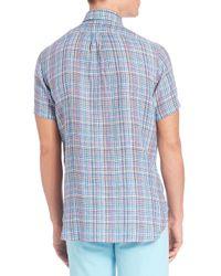 Polo Ralph Lauren | Blue Plaid Half-placket Sportshirt for Men | Lyst