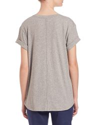 Vince - Natural Relaxed Fit Linen Tee - Lyst