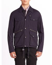 Saks Fifth Avenue   Blue Modern Hunting Jacket for Men   Lyst