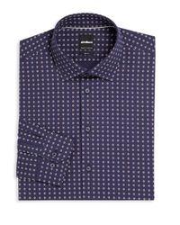 Strellson | Blue Floral Slim-fit Dress Shirt for Men | Lyst