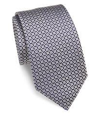 Charvet | Blue Small Pattern Silk Tie for Men | Lyst