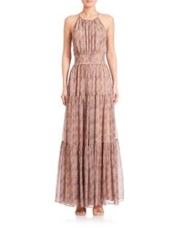 L'Agence - Multicolor Penelope Tiered Dress - Lyst