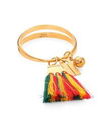 Chloé - Multicolor Janis Tassel Bangle Bracelet - Lyst