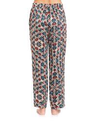 Beautiful Bottoms - Multicolor Spectra Mecca Printed Silk Pajama Top - Lyst