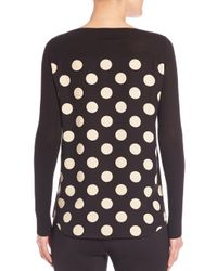 Akris Punto - Black Wool & Silk Polka Dot Pullover - Lyst
