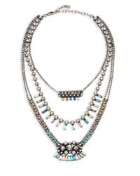 DANNIJO - Metallic Velia Necklace - Lyst