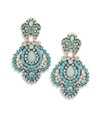ABS By Allen Schwartz | Blue Detailed Drop Earrings | Lyst