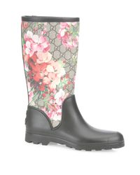 Gucci | Multicolor Prato Blossom Rain Boots | Lyst
