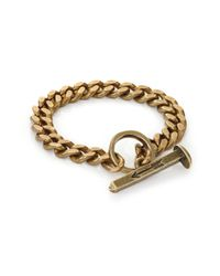 Giles & Brother - Metallic Railroad Chain Toggle Bracelet/goldtone - Lyst