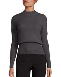 Carven - Gray Multipoint Fine Knit Sweater - Lyst