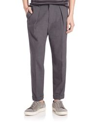 VINCE | Multicolor Worsted Wool Long-rise Cuffed Trousers for Men | Lyst