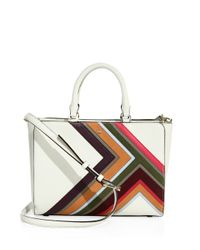 Tory Burch | Multicolor Robinson Multi-stripe Leather Bag | Lyst