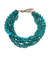 Weekend by Maxmara - Blue Tabella Multi-layered Choker Necklace - Lyst