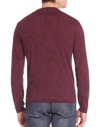 Etro - Purple Tonal Paisley Printed Wool Sweatshirt for Men - Lyst