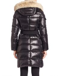 Sam. - Multicolor Fur-trimmed Down Shell Puffer Coat - Lyst