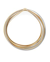 Marco Bicego | Metallic Masai 18k White & Yellow Gold Five-strand Crossover Necklace | Lyst