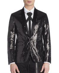 DSquared² | Black Beverly Paillettes Tux Jacket for Men | Lyst