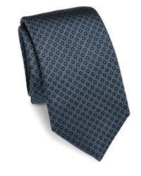 Saks Fifth Avenue | Blue Circle Dot Silk Tie for Men | Lyst