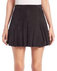 Alice + Olivia | Black Lee Suede Mini Skirt | Lyst