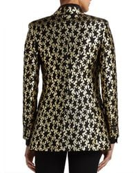 Saint Laurent - Multicolor Star Jacquard Blazer - Lyst