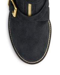 Chloé - Black Colby Leather Zip-up Ankle Boots - Lyst